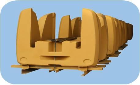 Construction machinery counterweight