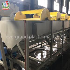 Déchets de recyclage des films plastiques / broyage / ligne de lavage / machine