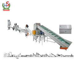 Waste Plastic Washing And Crushing Machine Line Plastic Recycling Equipment