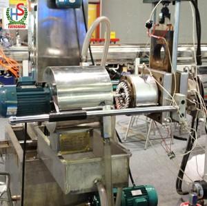 Usine / machine de granulation de coupe chaude en plastique de PE pp