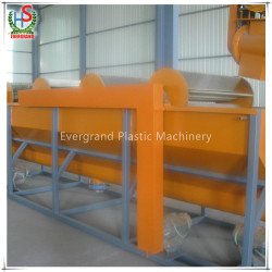Plastic pp pe film bags recycling crushing washing drying line machine