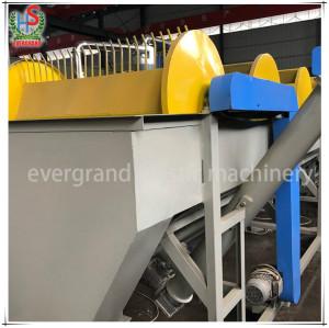 Entreprise de machine de traitement des unités de lavage de film de hdpe de ferme de déchets