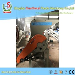 Low price plastic waste PVC PP PE pipes profile recycling crushing machine with screw feeder