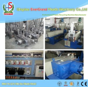 Plastic PP PE noodle type pelletizing line/PP PE scraps granulating machine for plastic recycling
