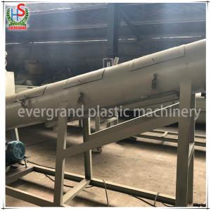 Déchets de plastique HDPE LDPE PP Sacs tissés Jumbo Recyclage de films Ligne de lavage / Machine de concassage