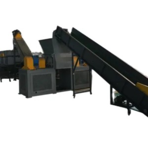 Waste Plastic PE PP Bottles Recycling Crushing Hot Washing Line/Machine with metal detector