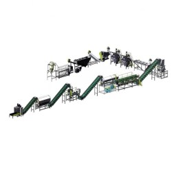 plastic recycling machine plant 1000kg/h plastic pet bottle flakes washing recycling line