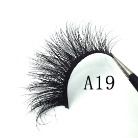 Best seller New design 3d dramatic real mink 12-18mm eyelashes