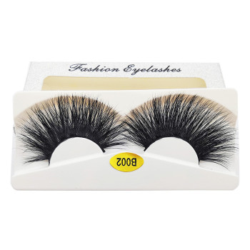 Wholesale October latest long life 3d real mink 25mm long eyelashes