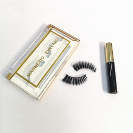 New arrival fashionable 3d magnetic lashes eyeliner magnetic eyelash set with luxury packaging box