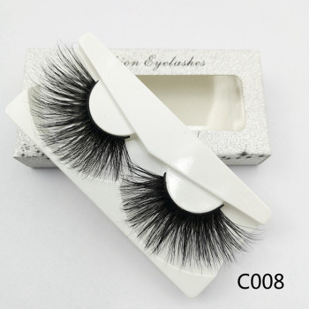 Wholesale Premium Quality Crossing Mink Eyelash 30mm Lashes with Custom Eyelash Packaging