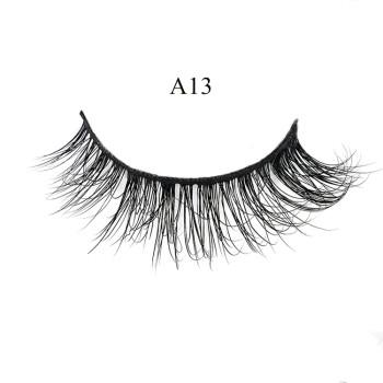 OEM Private Label natural 3D mink eyelashes Fur strip Eye lashes