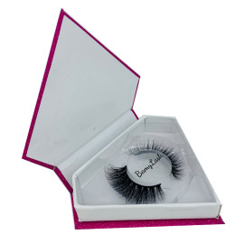 100% 3D Mink Eyelashes Own Brand Packaging False Eyelashes Private Label 25mm