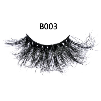 Whole Sale Makeup Handmade Luxury 3D Eyelashes 6d Fluffy 25mm 100% Mink Lashes