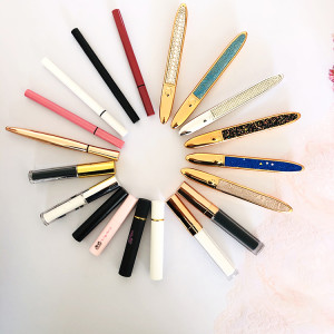 Private Label Adhesive Sticky Power Eyeliner eyeliner 2 in 1 Pen No Magnet Eyelashes Kit With Magic Eyeliner Pencil