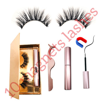 10 Magnets  Eyelashes Fake Lashes Magnetic Liquid Eyeliner Set Waterproof Long Lasting Magnet lash