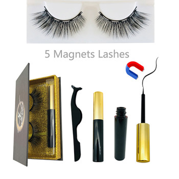 Magnetic Eyelashes Fake Lashes Magnetic Liquid Eyeliner Set Waterproof Long Lasting Magnet Eyelash