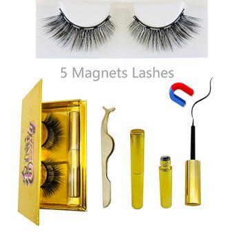 Magnetic Eyelashes 3D Faux Mink Eyelash Magnetic Liquid Eyeliner