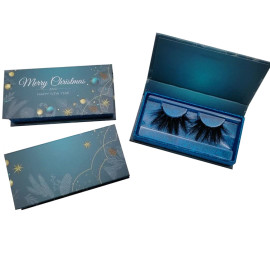 Christmas eyelash packing custom private label lash packaging box container Eyelash Package