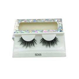 Natural long 3D Faux Mink Eyelashes Thick HandMade Full Strip Lashes Volume Soft Mink Lashes(5D05)