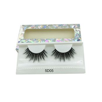 Natural long 3D Faux Mink Eyelashes Thick HandMade Full Strip Lashes Volume Soft Mink Lashes(5D05)