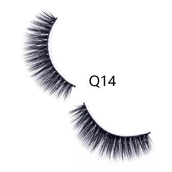 3D False Eyelashes Handmade Faux Mink Lashes Human Hair Natural Fake Lashes Makeup Eyelash (Q14)