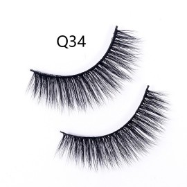 1 pairs 3D Faux Mink Lashes Natural Long False Eyelashes Thick Cross Lashes Handmade Soft Lash