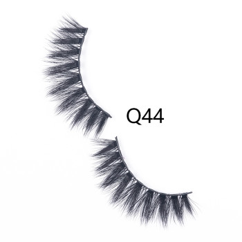 3D False Eyelashes Handmade Faux Mink Lashes Human Hair Natural Fake Lash Makeup Eyelash (Q44)