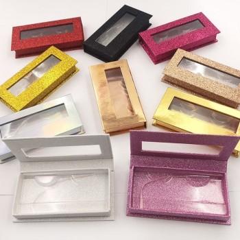 New rectangular non-window eyelash box 1 pair eyelash magnet box