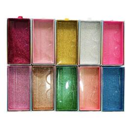 New pull box false eyelash box multi-color eyelash box customized transparent rectangular color packaging box