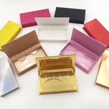 2021 new no-window 1-pair eyelash box rectangular eyelash box empty carton box