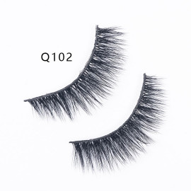 1Pair 6D Mink Eyelashes Natural False Long Faux Mink Lash Thick Handmade Lashes
