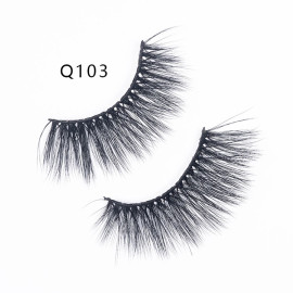 1 Pair 3D Mink Hair False Eyelashes Wispy Cross Long Soft Eye Lashes Makeup Eyelash