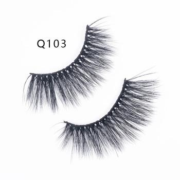 1 Pair 3D Mink Hair False Eyelashes Wispy Cross Long Soft Eye Lashes Makeup Eyelash
