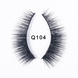 1 Pair 3D Mink Handmade Hair Eyelashes Thick Crossing Lashes Makeup Eyelash