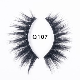 1 Pair 3D Faux Mink Eyelashes Natural False Long Thick Handmade Lashes