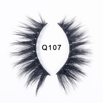 1 Pair 3D Faux Mink Eyelashes Natural False Long Thick Handmade Lashes