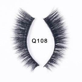 1 Pair Handmade Eye Lashes Real Mink 3D Natural Cross False Eyelashes Wholesale