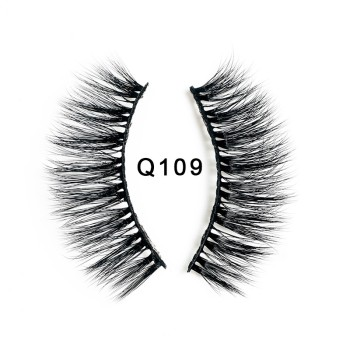 1 Pair 3D Mink Lashes Long Thicken eyelash Curl False Eyelashes Eyes lash