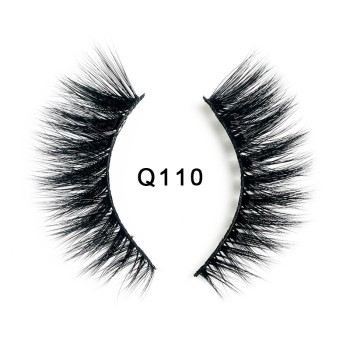 1 Pair 3D Soft Mink Hair False Eyelashes Natural Messy Wispy Fluffy Cross Eyelashes Extension