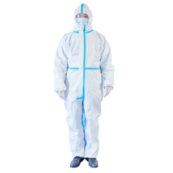 Robe d'isolement jetable médicale
