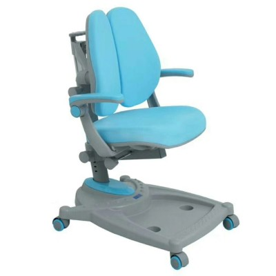 Double back ergonomic study chair with arm rest, Metal frame , fabric upholstery