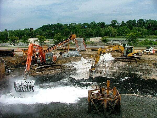 Применение водоудерживающего агента при очистке сточных вод