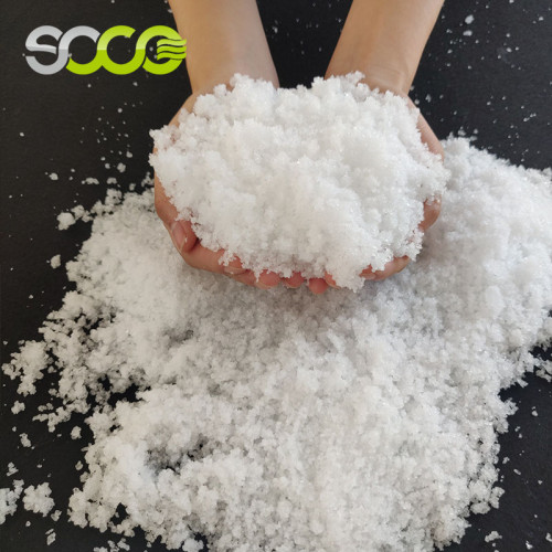 Абсорбирующий полимер можно использовать как искусственный снег