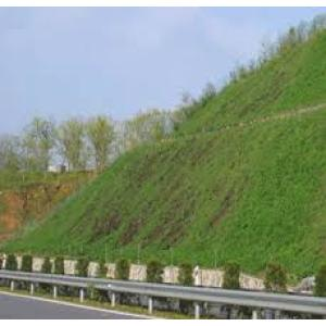 Super absorbent polymer for slope greening and slope management