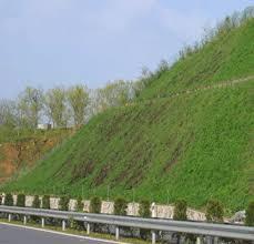 Полимерная водопоглощающая смола, применяемая для озеленения склонов