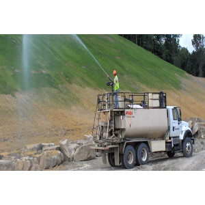 Water retention agent for slope greening and slope management
