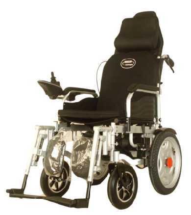 High-Back Power Steel Wheelchair hand push