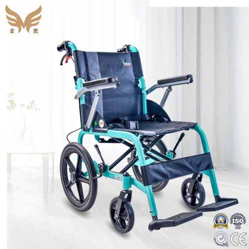 China High Quality Handicapped Hospital Folding Manual Lightweight Wheelchair