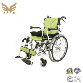 Green Aluminium hand push Manual Wheelchair